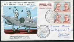 15119 FRANCE N°1213 ° 20F C. Goujon (1912-1957) K.Rozanoff (1905-1954) Pilotes D'Essais  P.J Le Bourget Du 13.6.59  B/TB - FDC