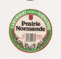 ETIQUETTE DE CAMEMBERT ULN DUCEY 50 AN PRAIRIE NORMANDE - Cheese