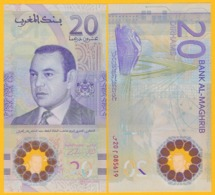 Morocco 20 Dirhams P-new 2019 UNC Polymer Banknote - Marokko