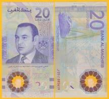 Morocco 20 Dirhams P-new 2019 UNC Polymer Banknote - Morocco