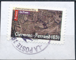 France - Art Roman - Clermont-Ferrand YT A462 Obl. Cachet Rond Manuel Sur Fragment - Francia