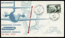 15126 FRANCE N°1246 ° Première Liaison France-Maroc En Caravelle  Obl. Toulouse Du 20.5.1960   TB - Airmail