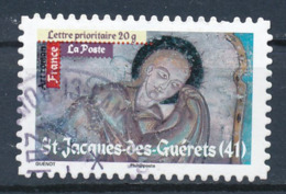 France - Art Roman - St-Jacques Des Guérets YT A463 Obl. Cachet Rond Manuel - Adhésifs (autocollants)