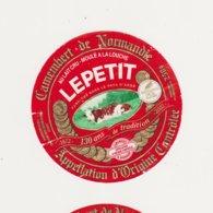 ETIQUETTE DE CAMEMBERT LEPETIT SAINT MACLOU 14 AH - Cheese