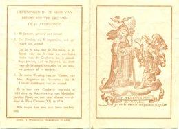 Gebed Ter Ere Van De H. Aldegonda - Vereerd In De Kerk Van Mespelare - Religion & Esotérisme