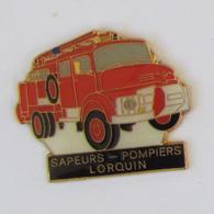 1 Pin's Sapeurs Pompiers De LORQUIN  (MOSELLE - 57) - Pompiers