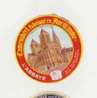ETIQUETTE DE CAMEMBERT LEPETIT SAINT MACLOU 14 AH ABBAYE DE SAINT PIERRE SUR DIVES - Cheese