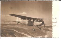 """10e Division Parachutiste - 1er P.M.A.H.  -  Carte De Voeux. Avion Monomoteur En Vol Immatriculé """"ACG"""" - Régiments"""
