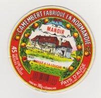 ETIQUETTE DE CAMEMBERT LEPETIT SAINT MACLOU 14 617 MANOIR NON DECOLLEE DE SON CARTON - Cheese