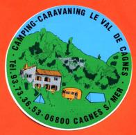 """Autocollant  """" Camping Caravaning Le Val De Cagnes à Cagnes Sur Mer """" - Autocollants"""