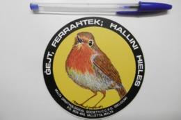 Autocollant Stickers - Thème OISEAUX - MALTA ORNITHOLOGICAL SOCIETY / CCPO BELGIUM / VALLETA MALTA - Adesivi