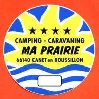 """Autocollant  """" Camping Caravaning Ma Prairie à Canet En Rousillon """" - Autocollants"""