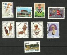Népal N°383, 387, 393, 398 à 400, 402, 403, 406 Cote 3.80 Euros - Nepal