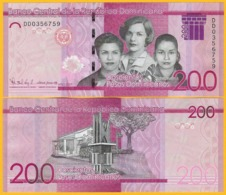 Dominican Republic 200 Pesos Dominicanos P-new 2017(2019) Modified Design UNC Banknote - Dominicana