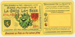 Etiquette (label) De Biere Française   ( Beer, Cerveza, Birra, Bier); Micro-Brasserie DE LA QUIOTTE 25 - Bière