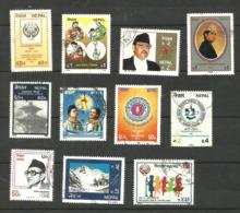 Népal N°467, 469, 470, 472 à 476, 478, 480, 481 Cote 3.25 Euros - Nepal