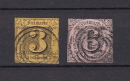 Thurn Und Taxis - 1852/58 - Michel Nr. 6/9 - Gest. - 30 Euro - Thurn Und Taxis