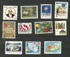 Népal N°479, 482 à 484, 486 à 490, 493, 494 Cote 3.40 Euros - Nepal