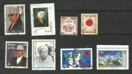 Népal N°603, 604, 606A, 608, 624, 633, 640, 654 Cote 3.45 Euros - Nepal