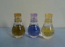 """Lot 3  Miniatures Différentes """"SO ELIXIR """" D' Yves Rocher Sans Boite - Miniatures Womens' Fragrances (without Box)"""