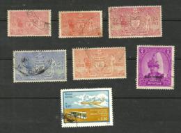 Népal SERVICE N°3, 5, 7, 9, 11, 12, Poste Aérienne N° 5 Cote 8.40 Euros - Nepal