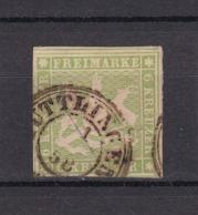 Württemberg - 1857 - Michel Nr. 8 - Gest. - BPP Geprüft - 75 Euro - Wuerttemberg