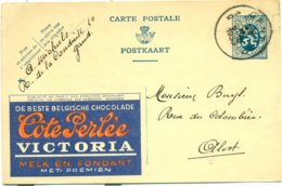 Publibel Nr. 10 - Côte Perlée Victoria - De Beste Belgische Chocolade Melk En Fondant - Stamped Stationery