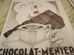 ANCIENNE PUBLICITE SANS RIVAL CHOCOLAT  MENIER 1932 - Posters