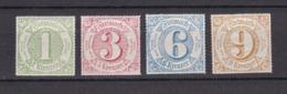 Thurn Und Taxis - 1866 - Michel Nr. 51/54 - Postfrisch - Thurn Und Taxis