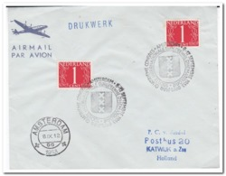 Brief 1953 Amsterdam-Katwijk A. Zee Stempel Quatrieme Congres, Societe Internationale Europeenne D'hematologie - Geneeskunde