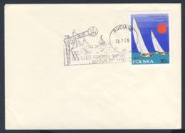 Poland Polska Polen 1965 Brief Cover – XX Jahre Segel-Weltmeisterschaften Finn-Dinghy / Sailing World Championships - Sailing