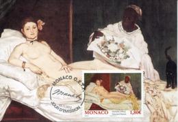 48304  Monaco,  Maximum 2012  Painting Of  Edouard Manet, Olympia, LOUVRE MUSEUM, - Arte