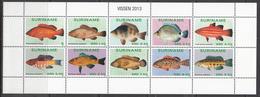 2013 Surinam Fish Poisson  Miniature Sheet Of 10   MNH - Suriname