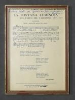 Musica Lirica - Autografo Del Soprano Jole Adamo Su Stampa Incorniciata - 1968 - Autografi