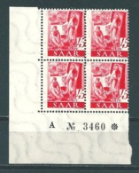 Saar MiNr. 219 ** Bogenecke, Verzähnt  (r12) - Unused Stamps