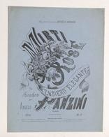 Spartito - A. Panzini - Mirti E Rose - Pensiero Elegante Per Pianoforte - Vecchi Documenti