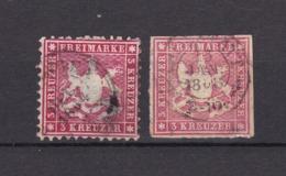 Württemberg - 1863/65 - Michel Nr. 26+31 - Gest. - 30 Euro - Wuerttemberg