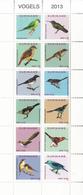2013 Surinam Suriname Birds Miniature Sheet Of 12 MNH - Suriname