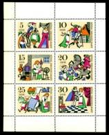 1967 Brothers Grimm Fairy Tale,Cat,Cook,Minstrel,Hurdy Gurdy,DDR,Mi.1323,MNH - Fairy Tales, Popular Stories & Legends