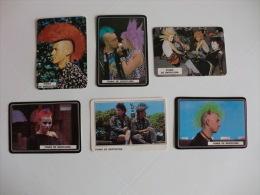 Complet Set Of 6 Punks Of Barcelona Portugal Portuguese Pocket Calendars 1988 - Calendriers