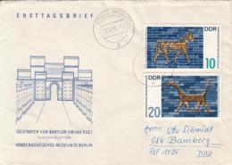 BERLIN MUSEUM, BABYLON GATE, ARCHAEOLOGY, COVER FDC, 1966, GERMANY - [6] República Democrática