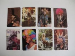 Complet Set Of 8 Punks Portugal Portuguese Pocket Calendars 1986 - Calendriers