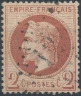 FRANCE - 1862, Mi 25, 2c, Oblitére - 1863-1870 Napoléon III Lauré