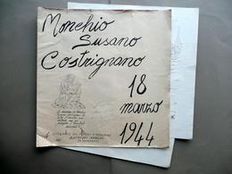 4 Litografie Romano Buffagni Palaganese Monchio Susano Costrignano 18/3/1944 WW2 - Estampes & Gravures