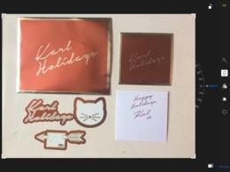 Grande Enveloppe + Stickers Et Double Carte + Env Karl Lagerfeld - Cartas Perfumadas