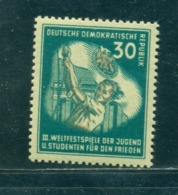 1951 Student Raise The Flag On The Mast,Youth Festival,Brandenburg,DDR,291,MNH - Childhood & Youth