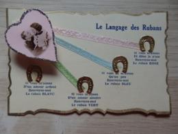 Fantaisie - Carte à Système - Le Langage Des Rubans - Dans Son Enveloppe Transparente - R.M.C. - Voir 4 Scans - Met Mechanische Systemen