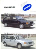 South Korean Hyundai Car Catalog Prospekt Brochure Leaflet A4-Slovenia Yugoslavia - Cars
