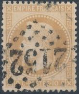 FRANCE - 1867, Mi 27, 10c, Oblitére - 1863-1870 Napoléon III Lauré