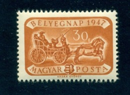 1947 Post Coach/16th Cent.,Stamp Day,Coat Of Arms,Hungary,999,MNH - Stage-Coaches